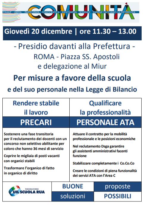 La Uil Scuola Napoli e Campania Vicina ai Precari